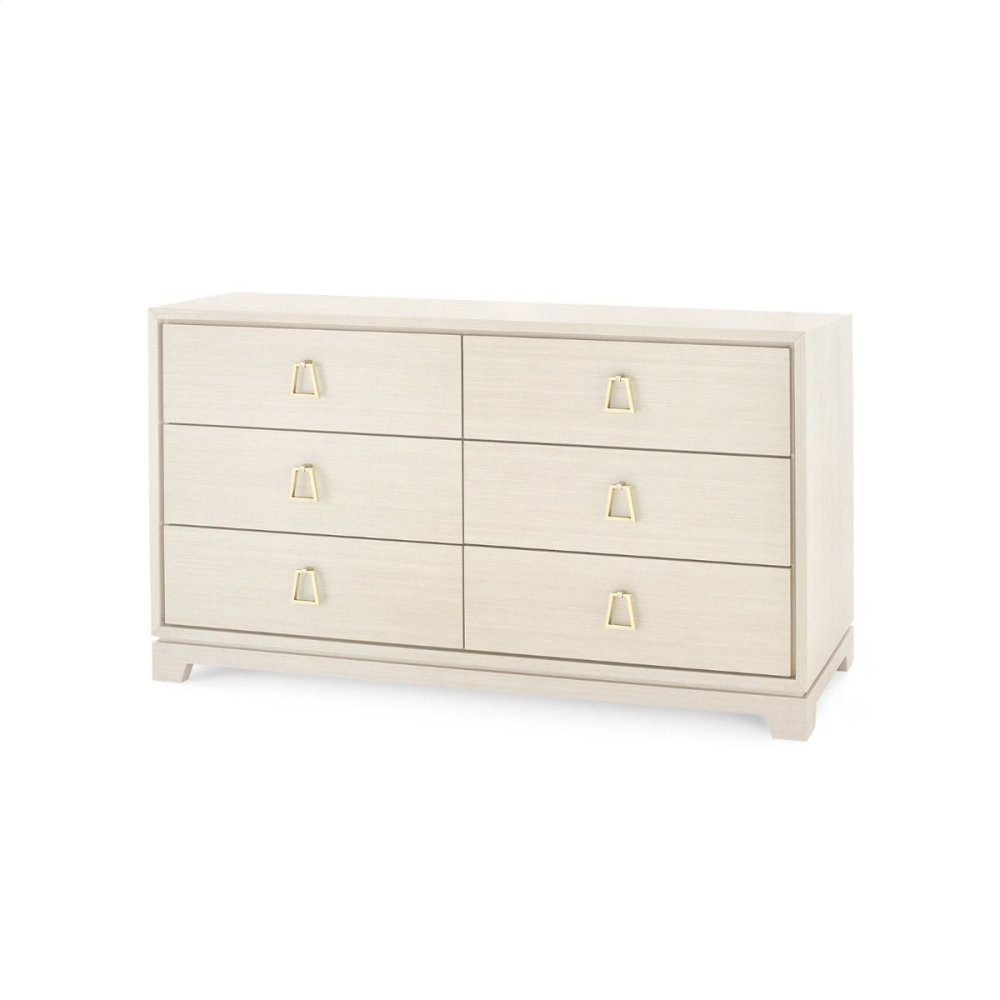 Stanford Extra Large 6-Drawer, Blanched Oak