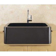 "Polished & Honed Front Farmhouse Sinks 33"" Width / Black Granite"