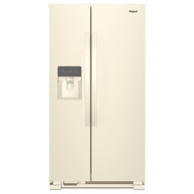 Whirlpool® 36-inch Wide Side-by-Side Refrigerator - 25 cu. ft. - Biscuit-on-Biscuit