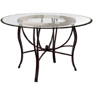 "Hillsdale FurniturePompei Dining Table - Ctn B - 48"" Round Glass Top Only"