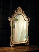 Baroque Mirror with Mirrored Borders Finished in Antique Gold Metal Leaf Product Image