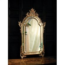 Baroque Mirror with Mirrored Borders Finished in Antique Gold Metal Leaf