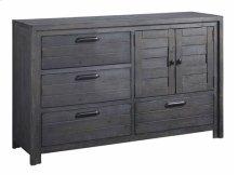 Door Dresser - Distressed Dark Gray Finish