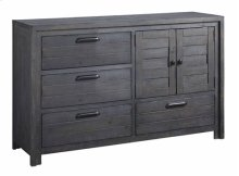 Door Dresser - Distressed Dark Gray Finish