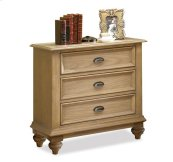Coventry Three Drawer Nightstand Weathered Driftwood finish