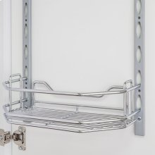 """Door Mount Tray 6"""" x 3"""" x 11"""". Retail Packaging. Finish: Chrome"""