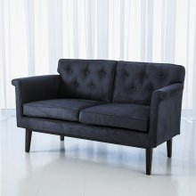 Emerywood Loveseat-D'oro Suede-Ink