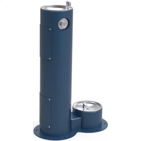 Elkay Outdoor Fountain Pedestal with Pet Station Non-Filtered, Non-Refrigerated Blue