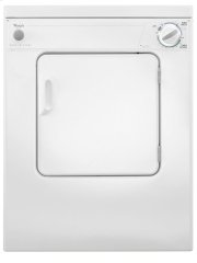 3.4 cu.ft Compact Top Load Electric Dryer with AccuDry Product Image