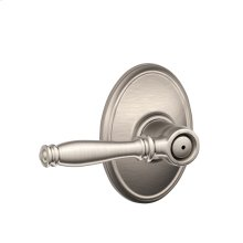 Birmingham Lever with Wakefield trim Bed & Bath Lock - Satin Nickel