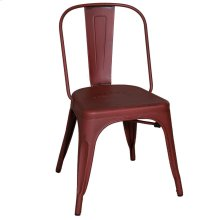 Bow Back Side Chair - Red