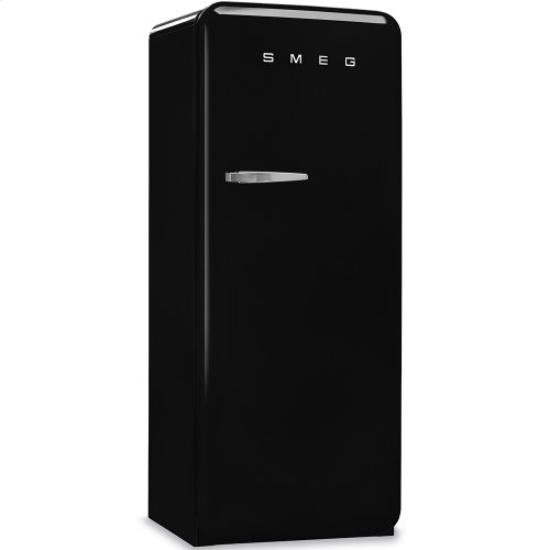 "Approx 24"" 50'S Style Refrigerator with ice compartment, Black, Right hand hinge"