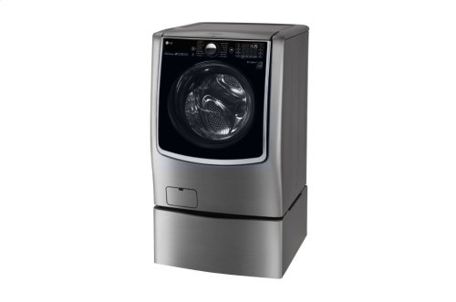 6.0 CU.FT. MEGA Capacity W/ On-door Control Panel & Turbowash® AND 9 cu. ft. Large Wifi Enabled Electric Dryer w/TurboSteam SET **OPEN BOX** West Location