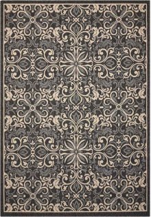 Caribbean Crb12 Charcoal Rectangle Rug 5'3'' X 7'5''