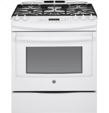 "GE® 30"" Slide-In Front Control Gas Range***FLOOR MODEL CLOSEOUT PRICING***"