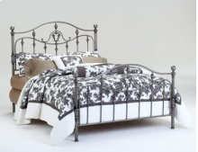 Penelope Silver Scroll Headboard - Queen Size