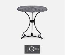 Antique Dark Grey Style Parquet Table