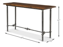 Layton Lodge Console Table, Natural Fnsh