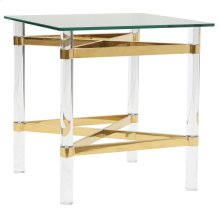 Morelia II Accent Table in Gold