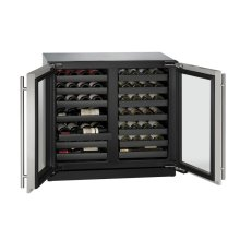 """36"""" Wine Captain ® Model Stainless Frame Double Doors"""