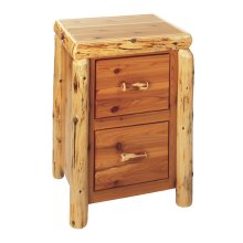 Two Drawer File Cabinet - Natural Cedar