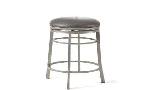 "Milo Backless Swivel Counter Chair, 17.5""x17.5""x24"""