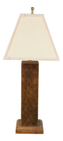 Leather Embossed Column Lamp