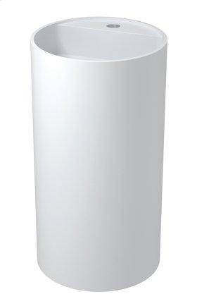 Akutan free-standing round basin with platform