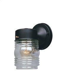 "4"" Jelly Jar Lantern in Black"