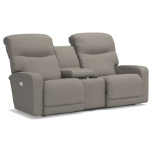Levi PowerReclineXRw Full Reclining Loveseat w/ Console
