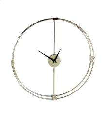 Metal Modern Wall Clock, Gold, Window Box