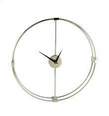 Gold Metal Numberless Clock, Wbb