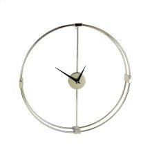 Gold Metal Numberless Clock, Wb
