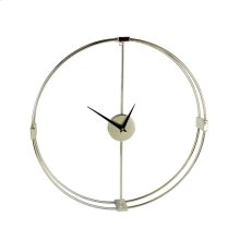 Gold Metal Numberless Clock, Wb