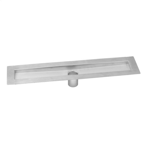 """Brushed Stainless - 42"""" zeroEDGE Bottom Outlet Channel Drain Body"""