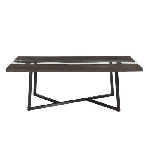Industrial Chocolate Dining Table