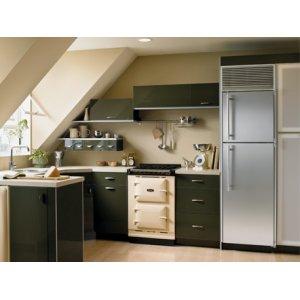 """24"""" Refrigerator with Top Freezer - 24"""" Marvel Refrigerator with Top Freezer - White Interior, Stainless Steel Door, Right Hinge"""