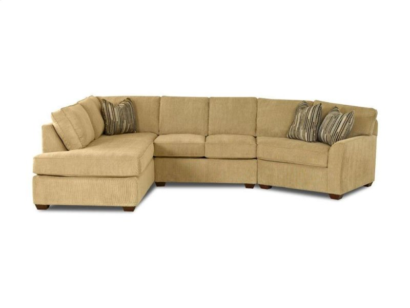 K55200fabsect In By Klaussner In Mt Pleasant Ia K55200 Fab Sect Grady Fabric Sectional