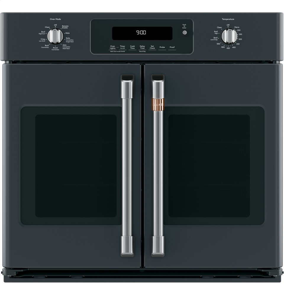"Caf(eback) 30"" Smart French-Door Single Convection Wall Oven