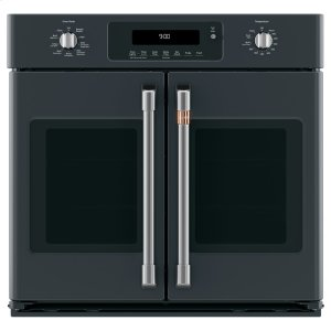 "Cafe AppliancesCaf(eback) 30"" Built-In French-Door Single Convection Wall Oven"