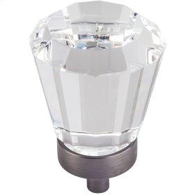 "1-1/4"" Diameter Glass Tapered Cabinet Knob."