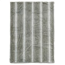 "Throw Sz102 Silver Grey 50"" X 70"" Throw Blanket"