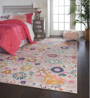 Passion Psn01 Silver Rectangle Rug 6'7'' X 9'6''