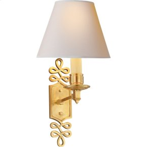 Visual Comfort AH2010NB-NP Alexa Hampton Ginger 1 Light 8 inch Natural Brass Decorative Wall Light