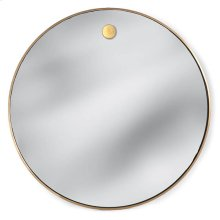 Hanging Circular Mirror (brass)