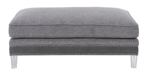 Emerald Home Patricia Cocktail Ottoman Pewter U3290-22-03