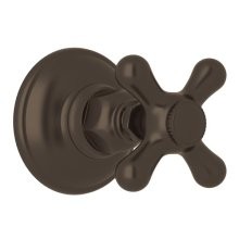 Tuscan Brass Verona Trim For Volume Control And 4-Port Dedicated Diverter with Verona Series Only Cross Handle
