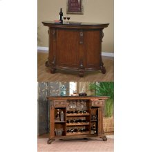 "Bourbon Street ""Yorktown Cherry"" Traditional Bar with Black Granite Top"