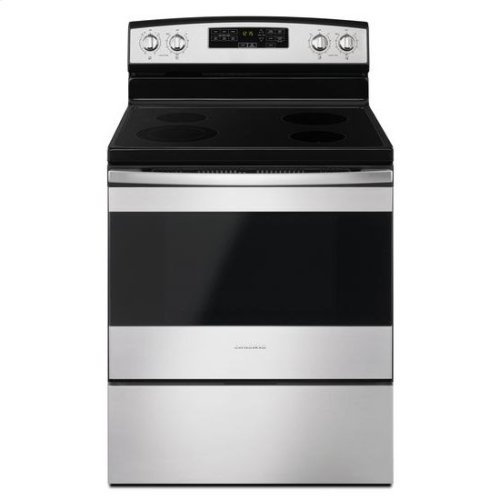 30-inch Electric Range with Self-Clean Option - stainless steel