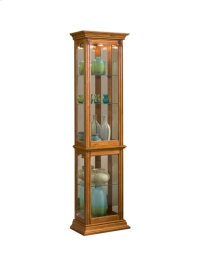 Gallery Style 4 Shelf Curio Cabinet in Golden Oak Brown Product Image